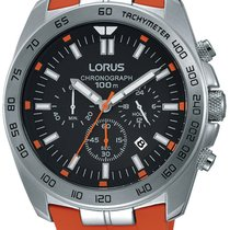 Lorus RT331EX9 Sport Chronograph 46mm silber orange 100M