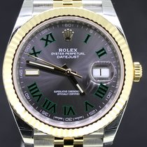 Rolex Datejust 41MM Gold/Steel Wimbledon Dial Jubilee Full Set