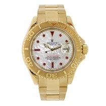 Rolex YACHT-MASTER 40mm 18K Yellow Gold  White MOP Ruby Dial