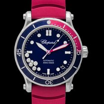 Chopard Happy Ocean Deep Blue Steel/Rubber 40mm - 278587-3002