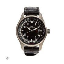 IWC Pilot Worldtimer Steel 45mm Black Arabic numerals