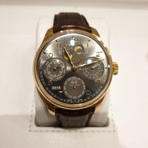 IWC Portuguese Perpetual Calendar pre-owned Red gold