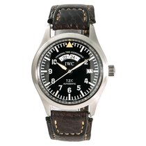 IWC 39mm Automatic 1990 pre-owned Pilot Spitfire UTC Black