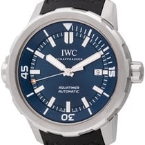 IWC Aquatimer Automatic pre-owned 44mm Blue Date Rubber
