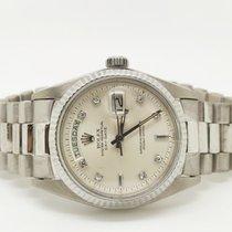 Rolex Day-Date 36 occasion 36mm Argent Date Affichage des jours or blanc