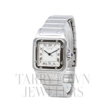 Cartier Santos (submodel) pre-owned 29mm Champagne Date Steel