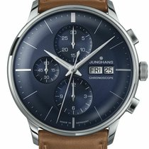 Junghans Meister Chronoscope Steel 40.7mm Blue No numerals United States of America, Florida, Naples