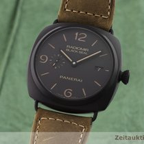 Panerai Radiomir Black Seal 3 Days Automatic rabljen 45mm Crn Datum, nadnevak Koza