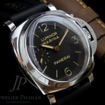 Panerai Luminor Marina 1950 3 Days Stal 47mm Brązowy Arabskie