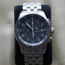 Victorinox Swiss Army AirBoss Stal 42mm Czarny Arabskie