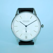 NOMOS Steel Manual winding White No numerals 38mm new Orion Datum