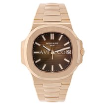 Patek Philippe Nautilus 40mm Men's 18k Rose Gold Chocolate...