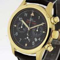 IWC Geelgoud Quartz Zwart 36mm tweedehands Pilot Chronograph