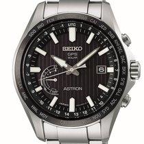 Seiko Astron GPS Solar Chronograph SSE161J1 Новые Сталь 45mm Кварцевые