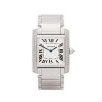 Cartier Tank Française pre-owned 25mm White gold
