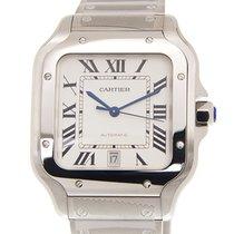 卡地亚 Santos De Cartier Stainless Steel White Automatic WSSA0009