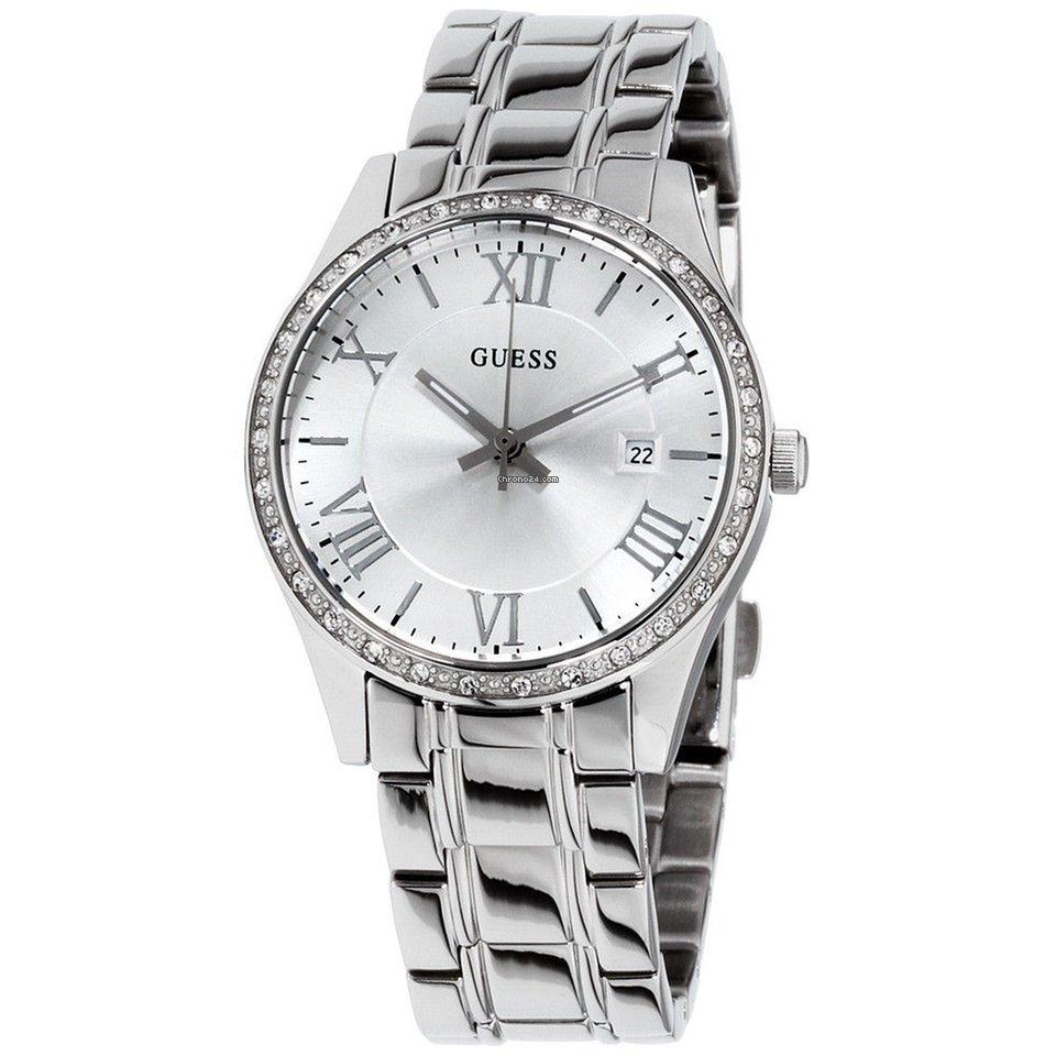 Guess Greenwich Silver Dial Stainless Steel Ladies Watch W0985l1 à vendre  pour 61 € par un Seller sur Chrono24 4a318067504c