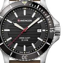 Wenger 43mm Quartz new Sea Force Black