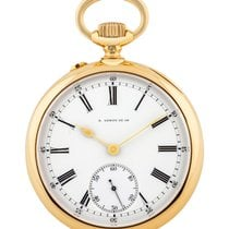 L.Leroy Yellow gold 50mm Manual winding pre-owned