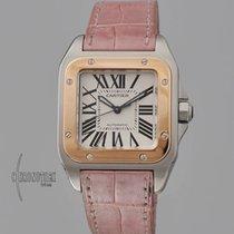 Cartier 2878 Gold/Stahl Santos 100 33mm gebraucht