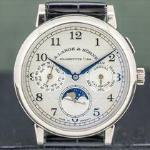 A. Lange & Söhne 1815 White gold 40mm Silver Arabic numerals United States of America, Massachusetts, Boston