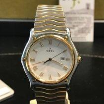 Ebel Sport Gold/Stahl 34,5mm Weiß Römisch