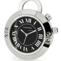Cartier Stainless Steel Alarm Clock