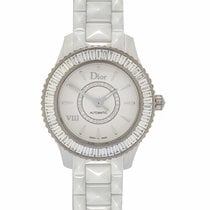 Dior VIII White Ceramic, White Gold & Diamond Ladies...