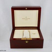 百達翡麗 Holz Box Vintage (Rot-Braun) mit Umkarton 16x12,5cm mit Hal