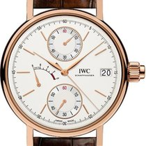 IWC Rose gold Manual winding Silver No numerals 45mm new Portofino Hand-Wound