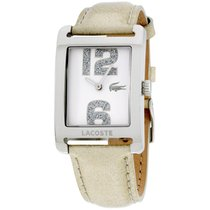 Lacoste Club White Dial Leather Strap Ladies Watch 2000674