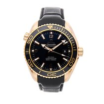 Omega Seamaster Planet Ocean Rose gold 45.5mm Black Arabic numerals