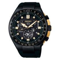 Seiko Astron GPS Solar Chronograph Titanium 45mm Black No numerals
