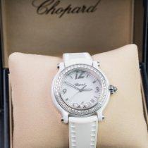 Chopard Ceramica Quarzo Bianco Arabo 36mm usato Happy Sport