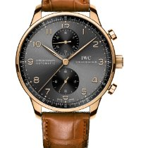 IWC Portuguese Chronograph Rose gold 40.9mm Grey Arabic numerals United States of America, New Jersey, Princeton