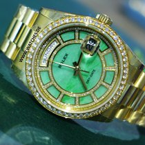 "Rolex Day-Date ""Carousel of Green Jade"" Gold &..."