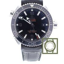 Omega Seamaster Planet Ocean black leather