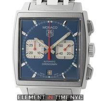 TAG Heuer Monaco Steve McQueen Chronograph Steel 38mm Blue Dial