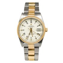 Rolex Date 15223 18k Bezel Two-tone 34mm White Dial Automatic...
