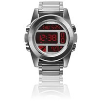 Nixon The Unit SS Silver / Red A360-1263