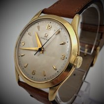 Omega Yellow gold 35mm Manual winding mécanique 18kts gold rare Vintage 1949 pre-owned