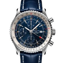 Breitling Navitimer GMT Steel 46mm Blue