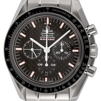 Omega Speedmaster Racing pre-owned 42mm Black Chronograph Date Tachymeter Fold clasp