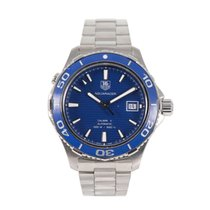 TAG Heuer Steel Automatic Blue 42mm pre-owned Aquaracer 500M