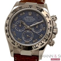 Rolex White gold Automatic Blue Arabic numerals 40mm pre-owned Daytona