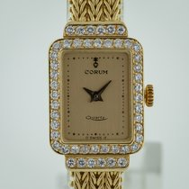Corum pre-owned Quartz 25mm Champagne Sapphire crystal 3 ATM