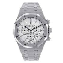 Audemars Piguet Royal Oak Chronograph Zeljezo 41mm Bjel Bez brojeva