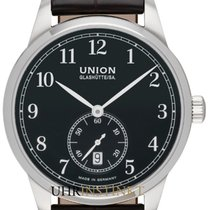 Union Glashütte 1893 Small Second Otel 41,00mm Negru