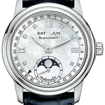 Blancpain Léman Moonphase Steel 34mm Mother of pearl United States of America, New York, Airmont