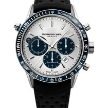 Raymond Weil Freeelancer Leather Strap Mens Watch 7740-SC3-65521